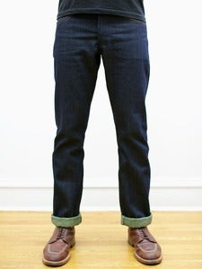 Image of Cone White Oak Green Heather Fill Greaser Jeans