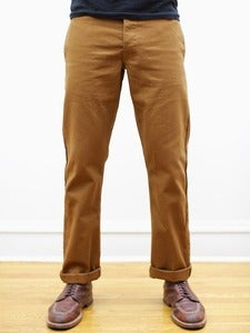 Image of  Caramel Japanese 12oz Duck Miner Chinos