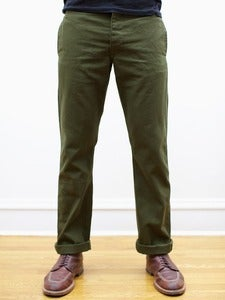 Image of Olive Japanese 12oz Duck Miner Chinos