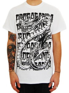Image of PROPAGANDA &quot;Snake&quot; t shirt white