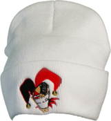 Image of White Cartoon Beanie - (FOLD UP)