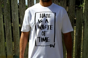 Image of Hate Waste Tee: White