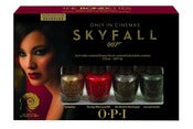 Image of OPI Nail Polish BONDETTES SkyFall MINI 4pc JAMES BOND 007 Holiday 2012 Limited edition