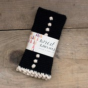 Image of Original Wrist Worms, Merino Wool, Dotty Black