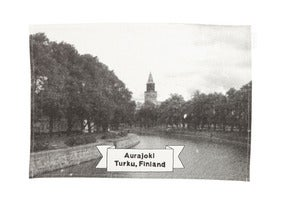 Image of Aurajoki tea towel/table mat |<br /> Aurajoki-keittiöliina/tabletti