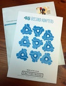 Image of 45rpm Record Adapter - Individual Pack of 9