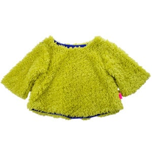 Image of franky grow | neon green fur pullover