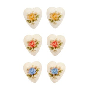 Image of Vintage Tea Rose Earrings Set