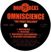 Image of OMNISCIENCE &quot;THE FUNKY ONE LINER&quot; EP ***SOLD OUT***