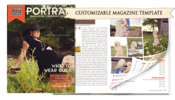Image of Portrait Magazine Template