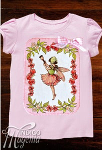 Image of Applique T-shirt - Pink Fairy