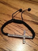 "Image of ""Future"" Black Cross Bracelet"