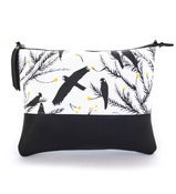 Image of LEATHER CLUTCH (with chain) Black Cockatoo