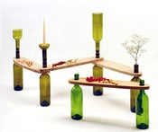 Image of DVINUS LONG, collect wine bottles and make your own table.