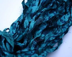 Image of Turquoise: Jersey Girl Reclaimed Silk Ribbon