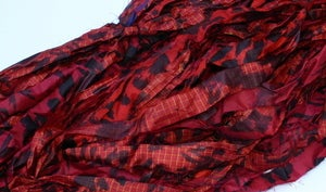 Image of  Dark Red: Jersey Girl Reclaimed Silk Ribbon