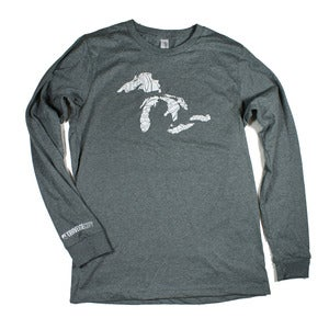 Image of Great Lakes Long Sleeve T-Shirt Heather Gray