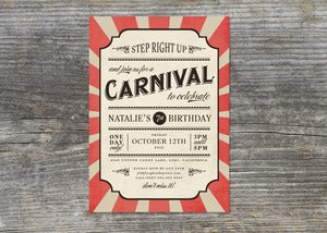 Image of Carnival Party Invitation (10)