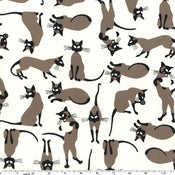 Image of Siamese kitties tote, made to order! 