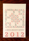 Image of AMERARCANA 2012: A Bird &amp; Beckett Review