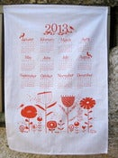 Image of S A L E 2013 Calendar tea towel in orange