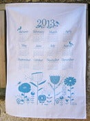 Image of S A L E 2013 Calendar tea towel in Blue