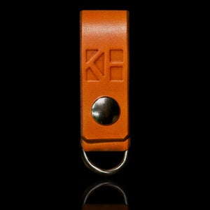 Image of Saddle Leather Logo Key Fob