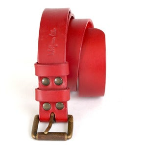 Image of Red Leather Belt