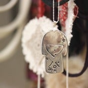 Image of STERLING SILVER JAPANESE DOLL PENDANT NECKLACE