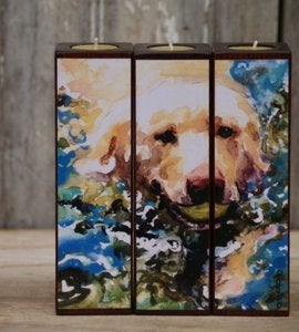 Image of 'Head Above Water' Tealight Triptych