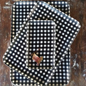 Image of Linen Tray: Navy White Check