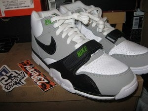 Image of Air Trainer 1 Mid Premium &quot;Chlorophyll&quot; 2012
