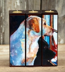 Image of &quot;By My Side&quot; Tealight Triptych