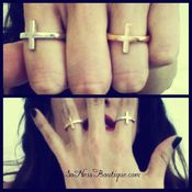 Image of Small cross finger rings