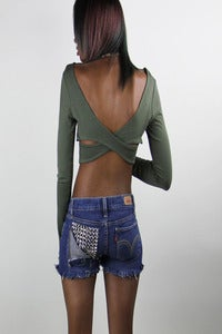 Image of Green Criss Crop Top