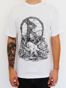 "Image of RUNES ""Spider Woman"" t shirt white"