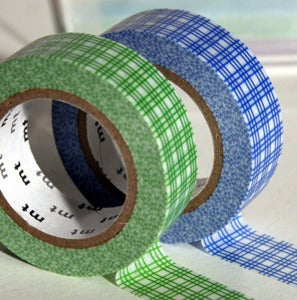 Image of Green & Blue Patterned Tape