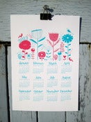 Image of S A L E 2013 Calendar print A4 turquoise and hot pink