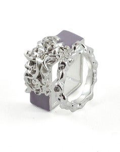 Image of Artifice Ring Set Mauveine/Silver