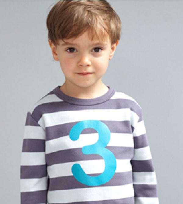 Image of Birthday Tee (No. 1-5), Charcoal &amp; Dove Gray