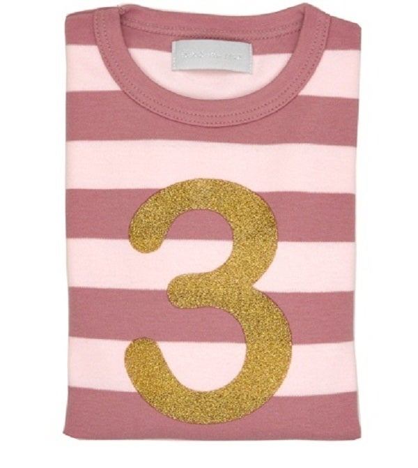 Image of Birthday Tee (No. 1-5), Vintage & Powder Pink