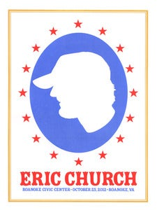 Image of Eric Church Roanoke, VA VIP Poster