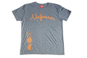 Image of Laser 2 years Unfamous anniversary tee dark heather