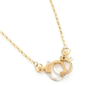 Image of Mini Gold Handcuff Necklace