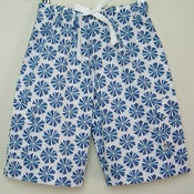 Image of Beach shorts - urchin in blue