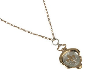 Image of Fleur-de-Lis Wax Seal Necklace