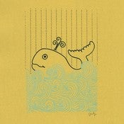 Image of ONE HAPPY WHALE : limited edition screenprint