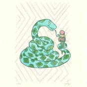 Image of SNAKES LOVE ICE CREAM : limited edition screenprint