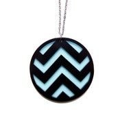 Image of chevron necklace [black/mint]