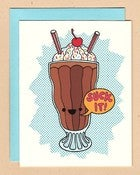 Image of Betty Turbo: Suck it Milkshake Notecard 